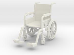 Wheelchair 01. 1:32 Scale in White Natural Versatile Plastic