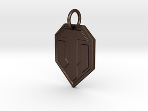 World of tanks keychain in Matte Bronze Steel