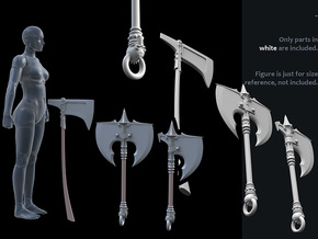 ACC-11-Axes 7inch MOTU v2.3 in White Strong & Flexible Polished