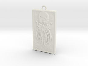 Pendant Cthulhu  in White Strong & Flexible