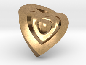 Heart- charm in Natural Brass