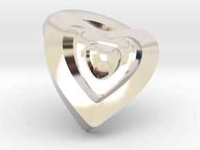 Heart- charm in Platinum