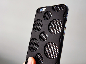 iPhone 6/6S Case_Dots in Black Strong & Flexible