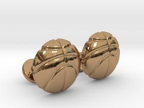 Basketball CuffLinks in Polished Brass