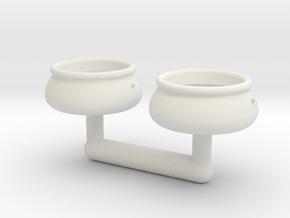 Aufblasspool - 1:220, 1:160, 1:120 oder 1:87 in White Natural Versatile Plastic: 1:120 - TT