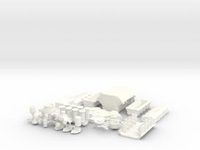 1/8 Ford 427 SOHC in White Processed Versatile Plastic