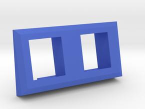 2 Coin Bezel (2 coin Wide) - Pinball Coin Door in Blue Processed Versatile Plastic