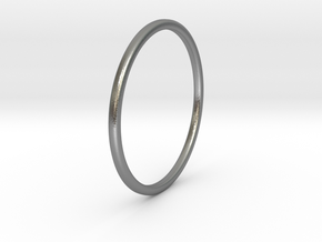 Simple band - size 9 US/ 189 mm EU - 1.2 mm thick  in Natural Silver