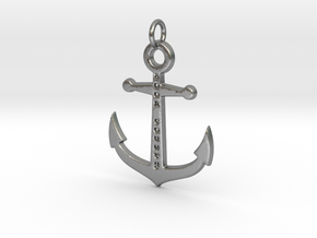Door County Anchor pendant in Natural Silver