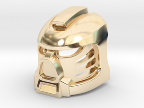 Tahu Prototype Mask in 14k Gold Plated Brass