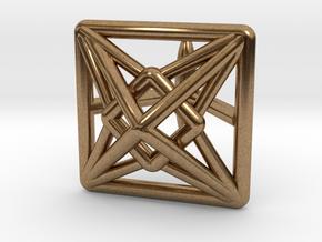 Square Cufflink in Natural Brass