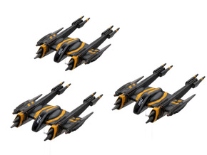 Rogue-class starfighter 3-pack 1/270 in Smoothest Fine Detail Plastic