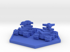 Colour Rim Bastion Drone Mini Tank Team in Blue Processed Versatile Plastic