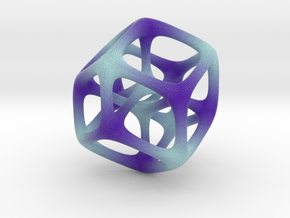 Halftone Hypercube in Full Color Sandstone