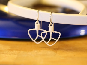 Kitchenaid-Style Mixer Earrings in White Processed Versatile Plastic