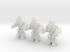 Autobot Exosuit Squad of 3, 35mm miniatures in White Natural Versatile Plastic