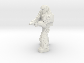 Diaclone Special Weapons Trooper, 35mm mini in White Natural Versatile Plastic