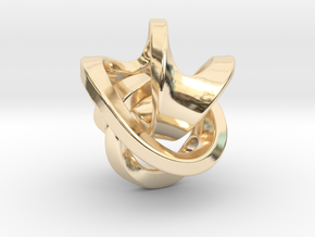 Soliton Pendant in 14k Gold Plated Brass: Medium