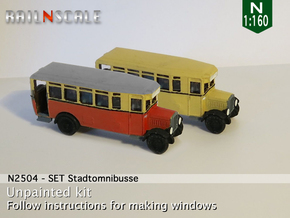 SET Stadtomnibusse (N 1:160) in Smooth Fine Detail Plastic