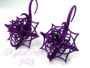 Plugs / gauges/ The Cthulhu/ 14 g (1,6 mm) in Purple Processed Versatile Plastic