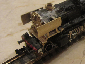 DSB class N kit for N scale BR 50 in Natural Brass