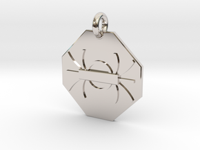 Pendant Gauss's Law of Magnetism in Rhodium Plated Brass