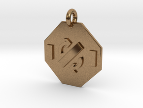 Pendant Faraday's Law in Natural Brass