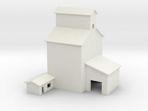 T-gauge grain elevator (1:450) in White Natural Versatile Plastic