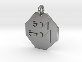 Pendant Newton's Second Law in Natural Silver