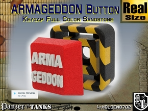 Full Color Button of ARMAGEDDON in Full Color Sandstone