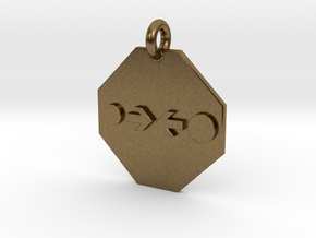 Pendant Newton's Law Of Gravitation in Natural Bronze