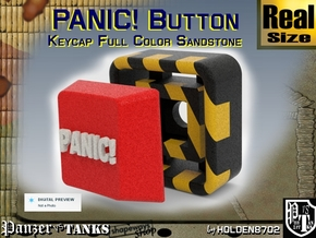 Full Color Button of Panic in Full Color Sandstone