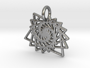 Spiral Pendent in Natural Silver