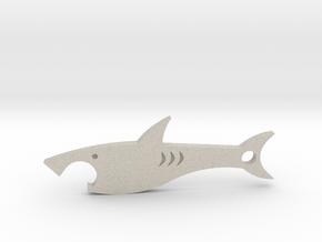 Shark bottle opener in Natural Sandstone