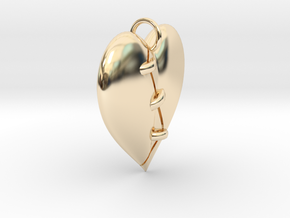 Patched Heart in 14K Yellow Gold
