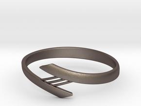 Bridge Bracelet in Polished Bronzed Silver Steel: Medium