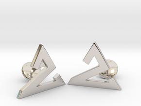 Delta One Cufflinks in Rhodium Plated Brass