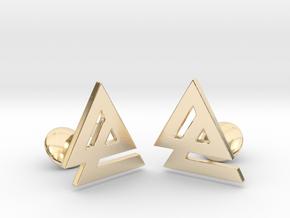 Delta 2 Cufflinks in 14k Gold Plated Brass