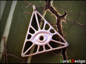 Illuminati Pendant in Polished Bronzed Silver Steel
