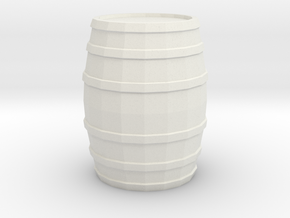 Printle Thing Barrel (little) - 1/24 in White Natural Versatile Plastic