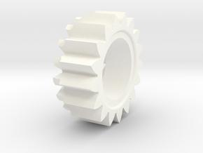 KstartRatchetGear in White Processed Versatile Plastic