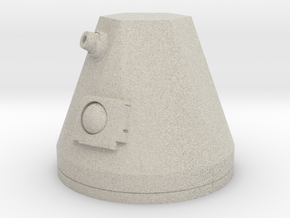 1/12 Scale Robot-4 Head Accessory in Natural Sandstone