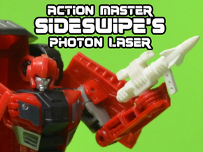 5mm Sideswipe Photon Laser (Action Master Weapon) in White Natural Versatile Plastic