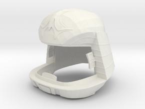 Viper Pilot Helmet (Battlestar Galactica TOS), 1/6 in White Natural Versatile Plastic