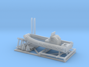 1/120 23 foot RIB boat with stand in Smoothest Fine Detail Plastic