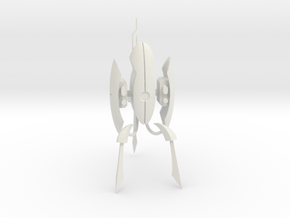 "Portal 2 Turret - 4"" tall in White Strong & Flexible"