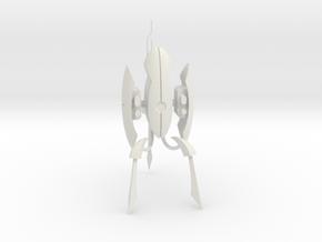 "Portal 2 Turret - 4"" tall in White Natural Versatile Plastic"