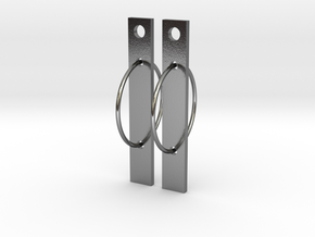Bar None in Polished Silver (Interlocking Parts)