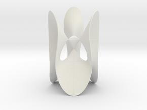 Cayley/Klein Cubic (KM 27), 4 singularities in White Natural Versatile Plastic