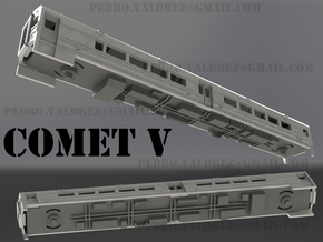 Comet V Chassis N Scale in White Natural Versatile Plastic